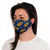 female wearing Blue no soup pattern 30-Day adult  nano-silver Cloth Face Mask with silver nanoparticles, washable and wearable up to 30 times  | Blue No Soup adjustable