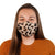 Female Wearing Cheetah pattern 30-Day Adult Cloth Face Mask with silver nanoparticles, washable and wearable up to 30 times | Cheetah