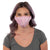 female wearing 30-Day Adult Cloth Face Mask with adjustable ear loops and silver nanoparticles, wash and wear up to 30 times | Watercolor Pink Adjustable