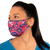 female wearing 30-Day Adult Cloth Face Cover , washable and wearable up to 30 times | Red Motif