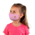 female wearing 30-Day Kid's Cloth Face Mask with silver nanoparticles, washable and wearable up to 30 times | bee happy