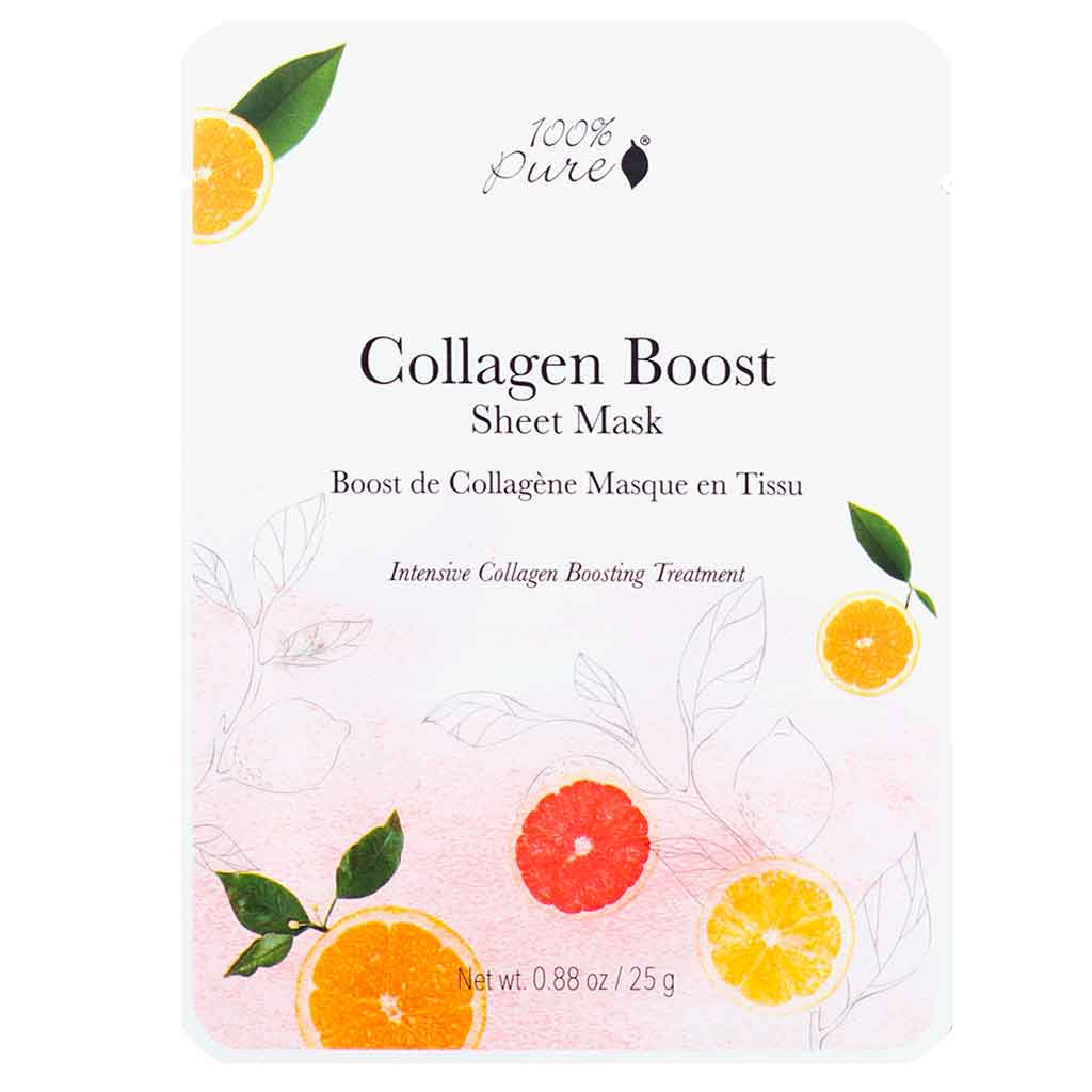 100% Pure Collagen Boost Sheet Mask Kasvonaamio