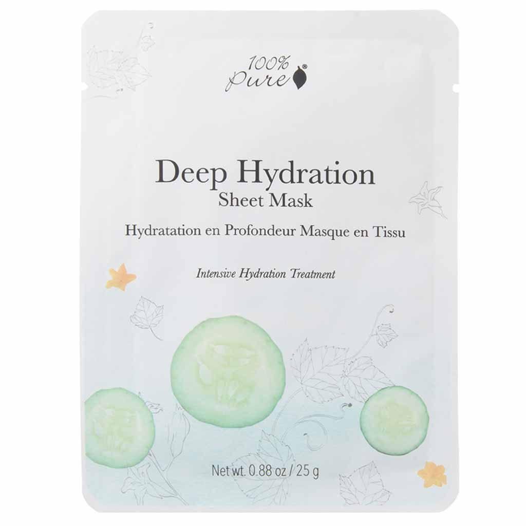 100% Pure Deep Hydration Sheet Mask Kasvonaamio