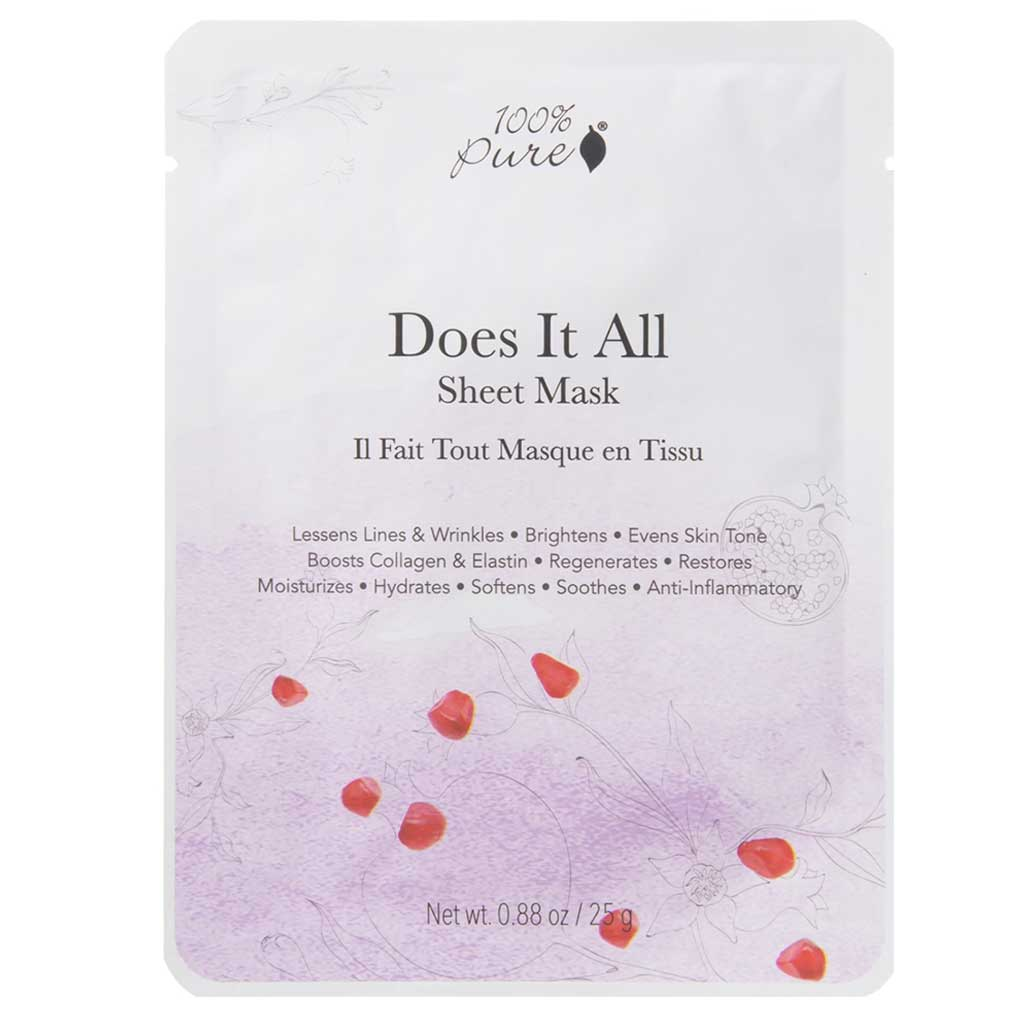 100% Pure Does It All Sheet Mask Kasvonaamio