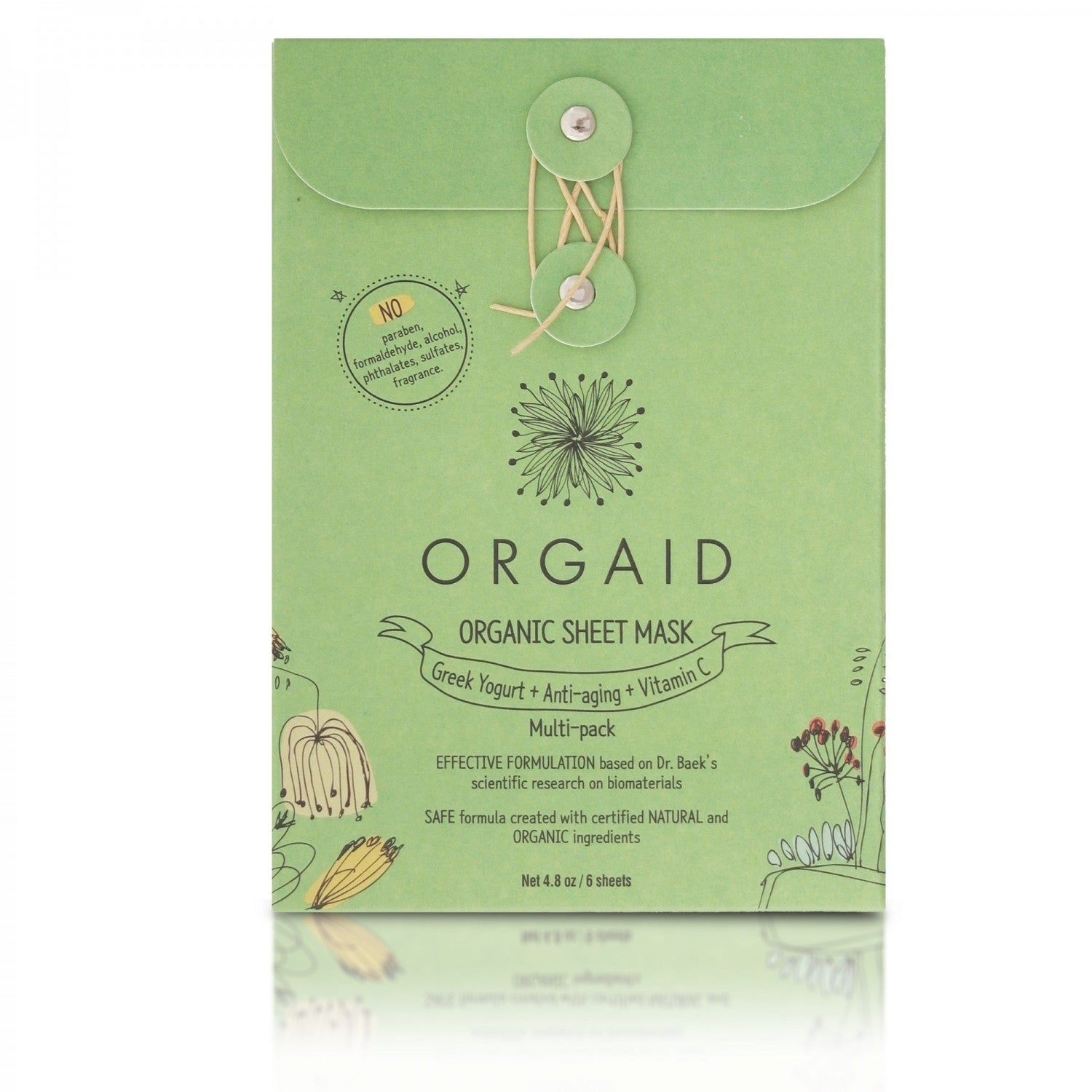 Orgaid Multipack sheet mask 6 pack