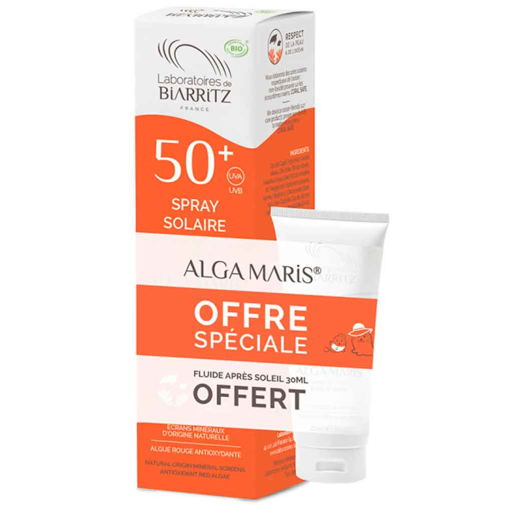 Alga Maris Kampanjapakkaus - Aurinkovoidespray SK50 +After sun 30ml