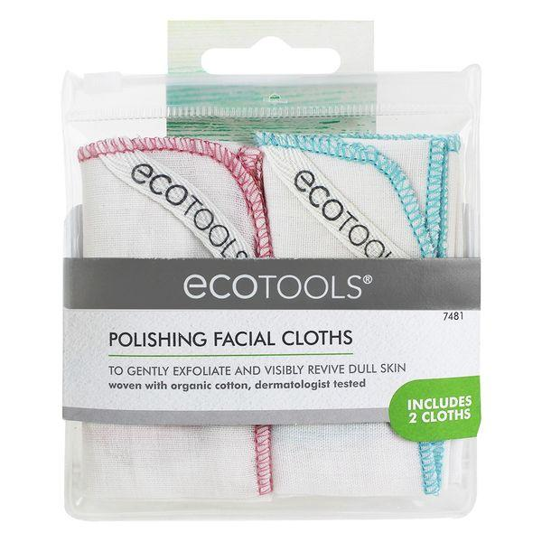 Ecotools Polishing Facial Cloths - musliiniliinat 2 kpl