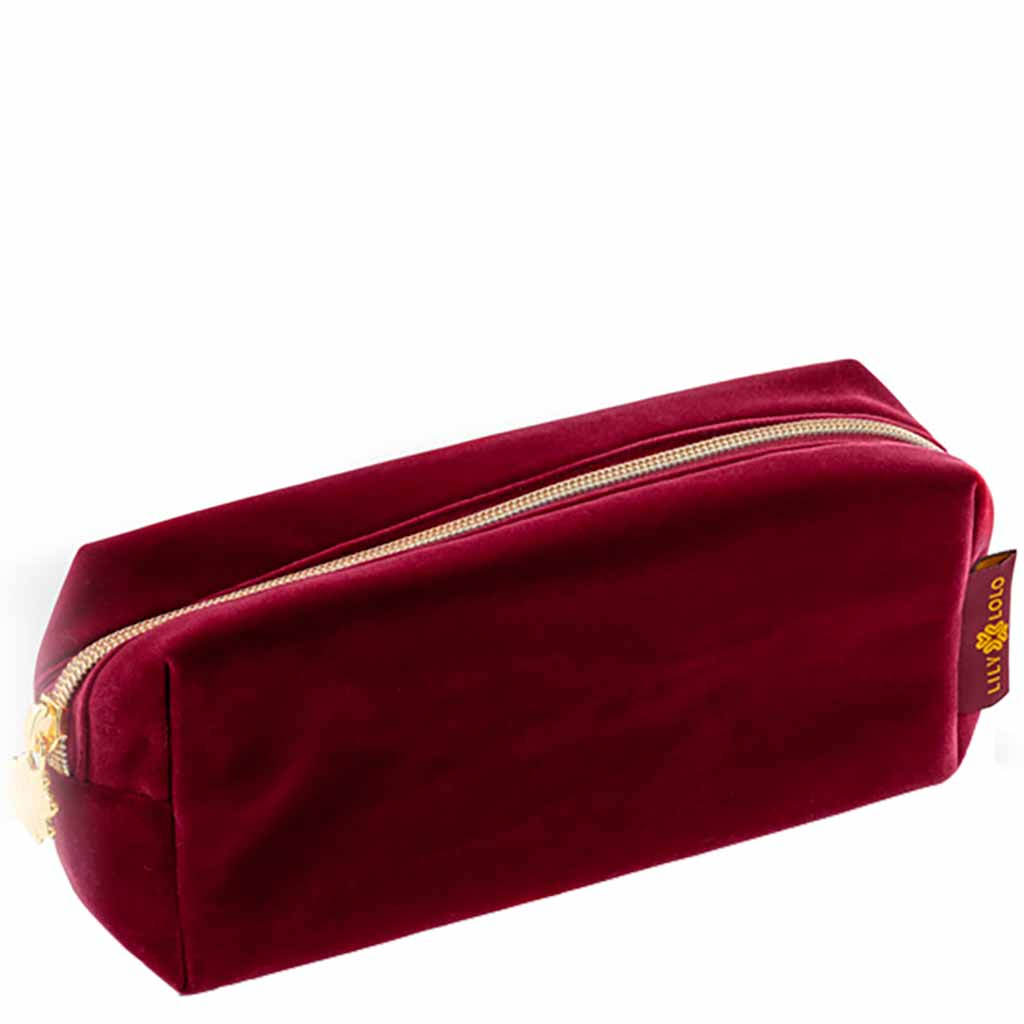 Lily Lolo Winter's Tale Collection cosmetic bag Berry - meikkipussi viininpunainen