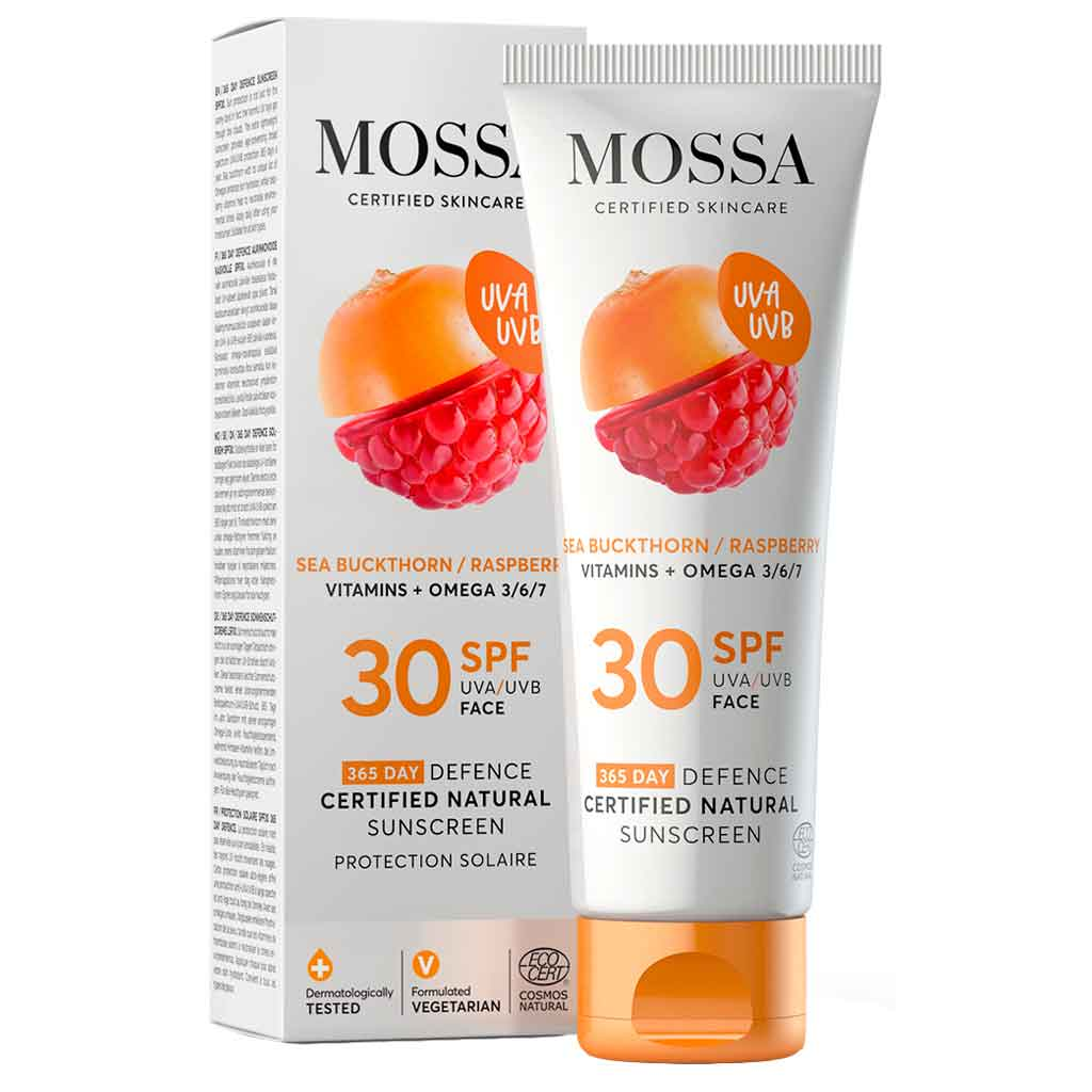 Mossa 365 Days Defence Certified Natural Sunscreen Aurinkovoide SPF30