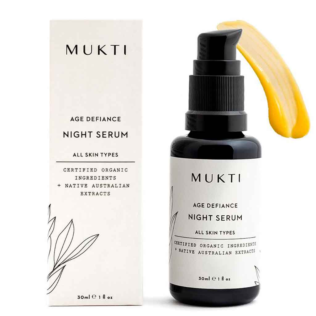 Mukti Organics Night Serum - korjaava seerumi