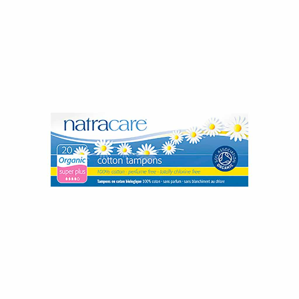 Natracare Puuvilla Tamponit Super Plus 20kpl