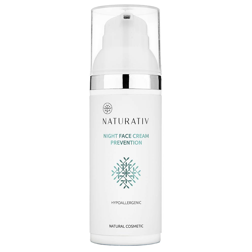 Naturativ Face Night Cream Prevention - kiinteyttävä yövoide