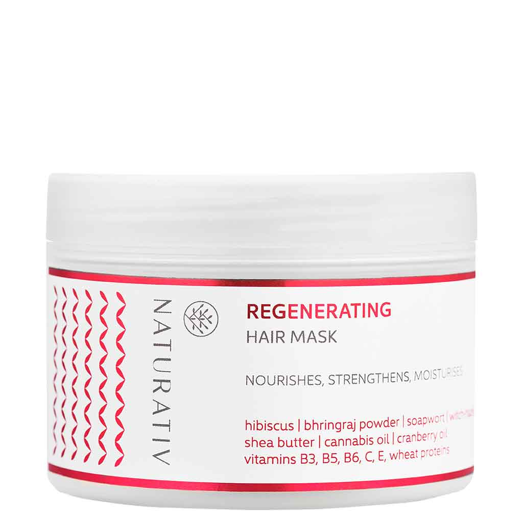 Naturativ Regenerating Hair Mask - Ravitseva hiusnaamio 250 ml