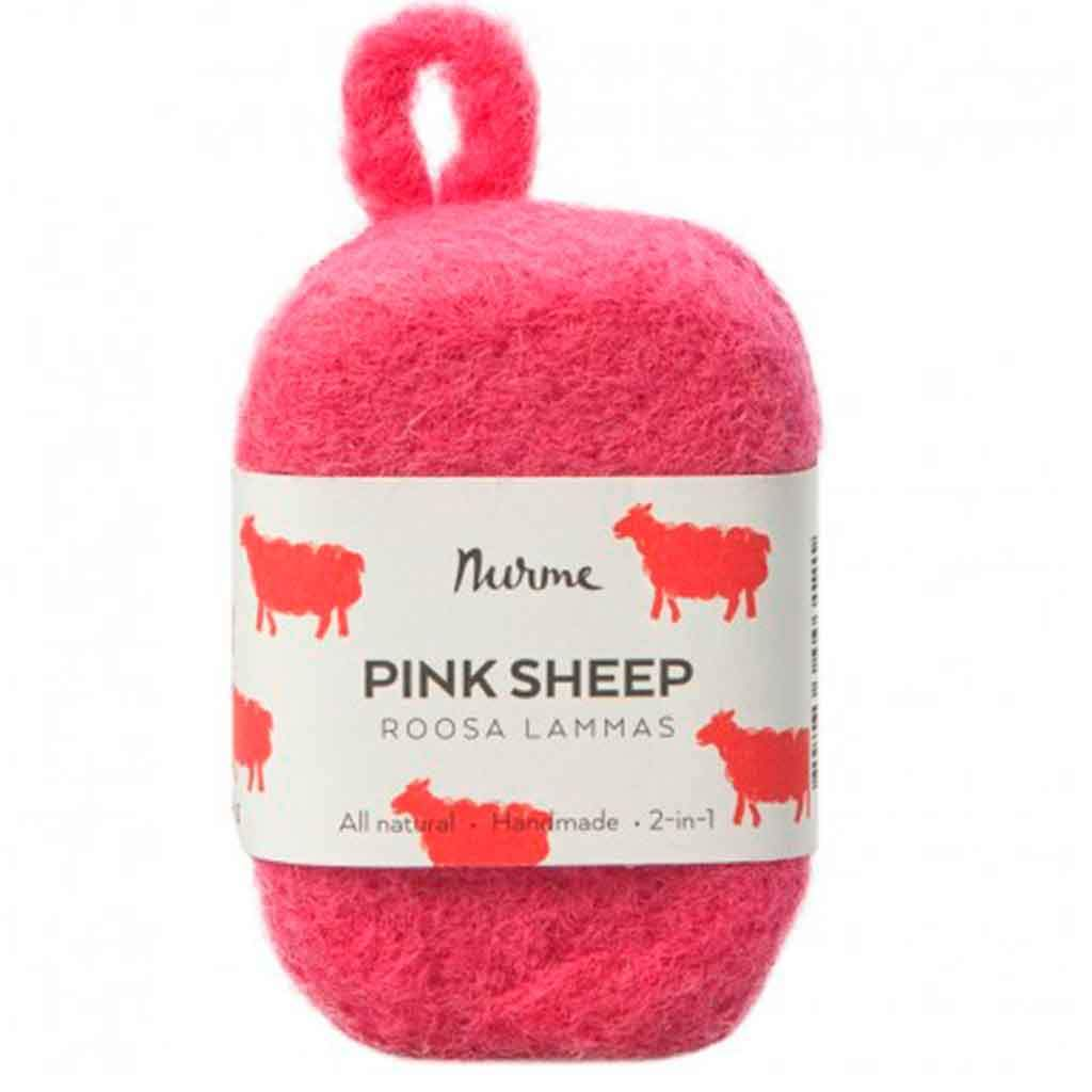 Nurme Pink Sheep Felted Soap - Huopasaippua