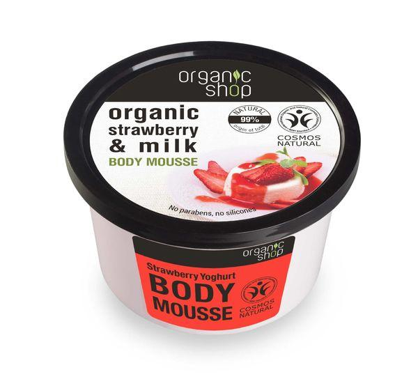 Organic Shop Body Mousse Strawberry Yoghurt