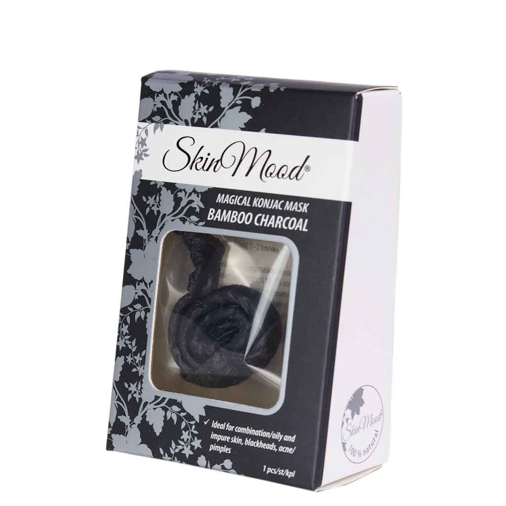 SkinMood Bamboo Charcoal Konjac Mask