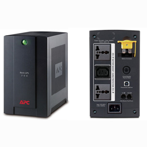 APC Back-UPS 700VA, 230V, AVR, Universal and IEC Sockets (BX700U-MS)