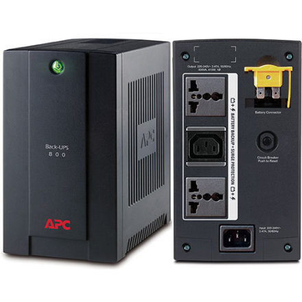 APC Back-UPS 800VA, 230V, AVR, Universal and IEC Sockets (BX800LI-MS)