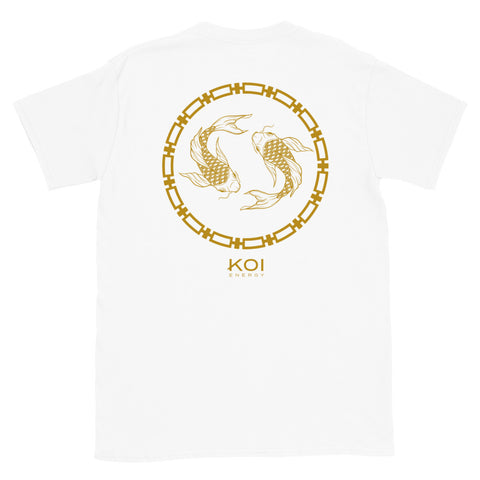 Koi Energy Premium Tee (White & Gold)