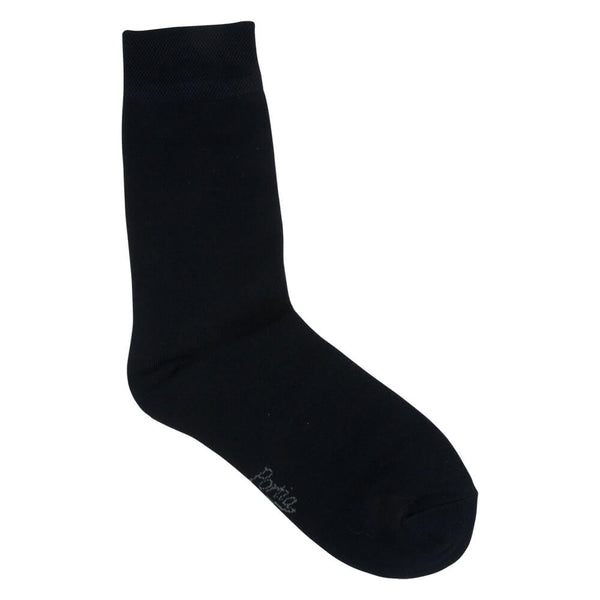 navy bamboo socks male front