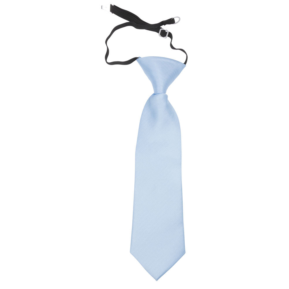 children kids light blue polyester tie