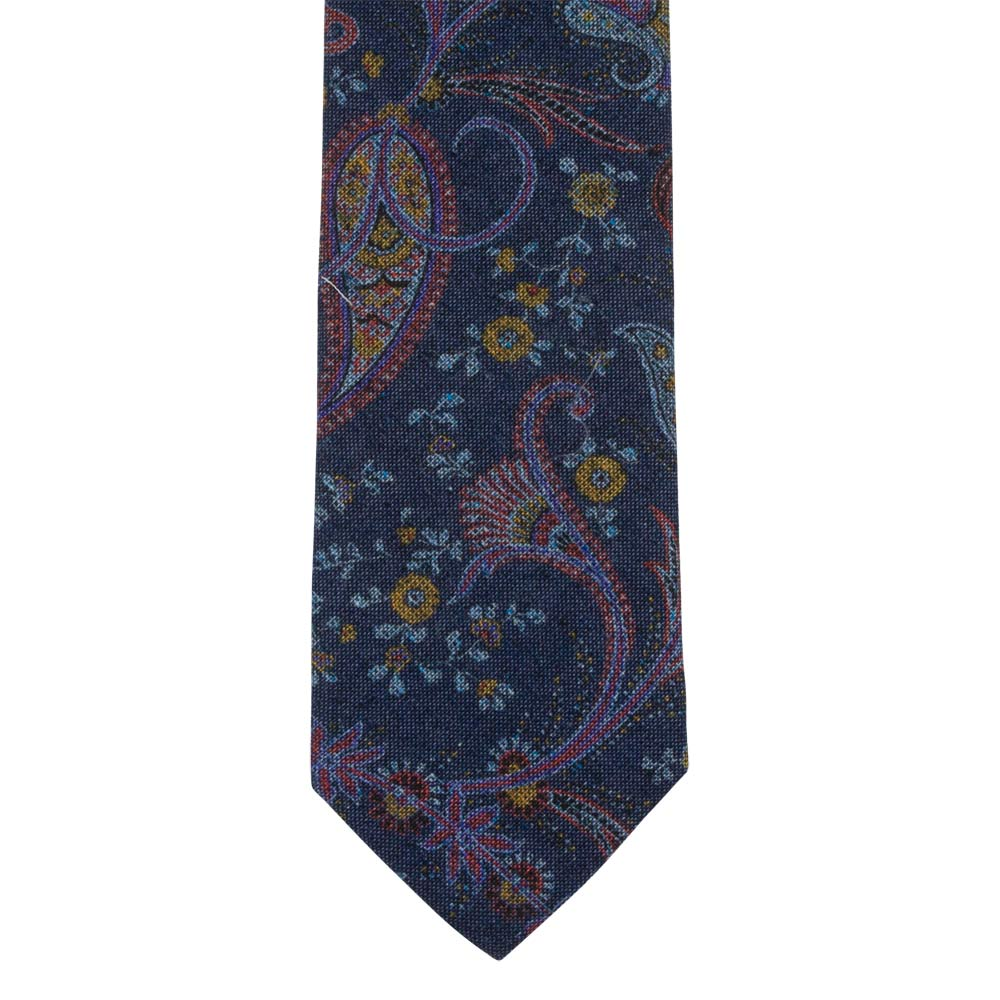 TIE I SILK-COTTON I BLUE - Portia 1924