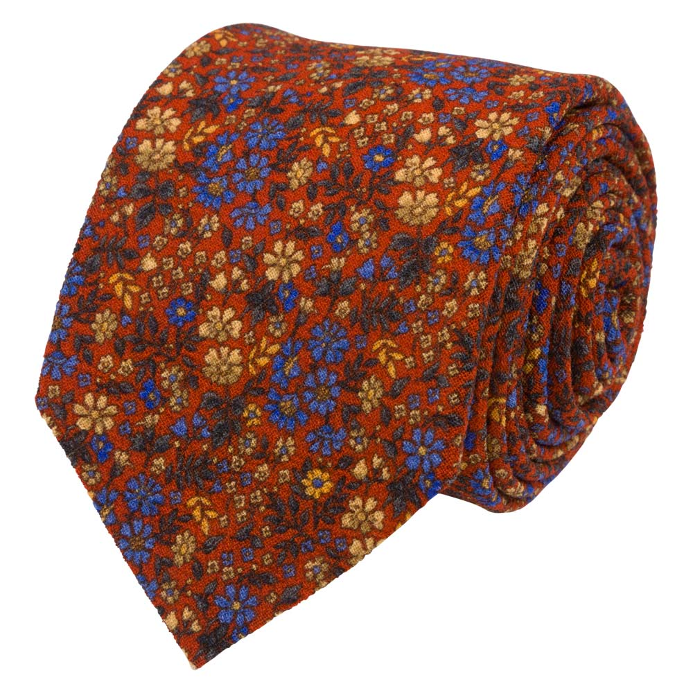 TIE I WOOL CREPE MARACAINE I ORANGE - Portia 1924