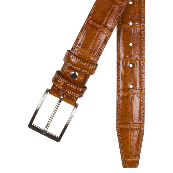 BELT I CROCO I BROWN