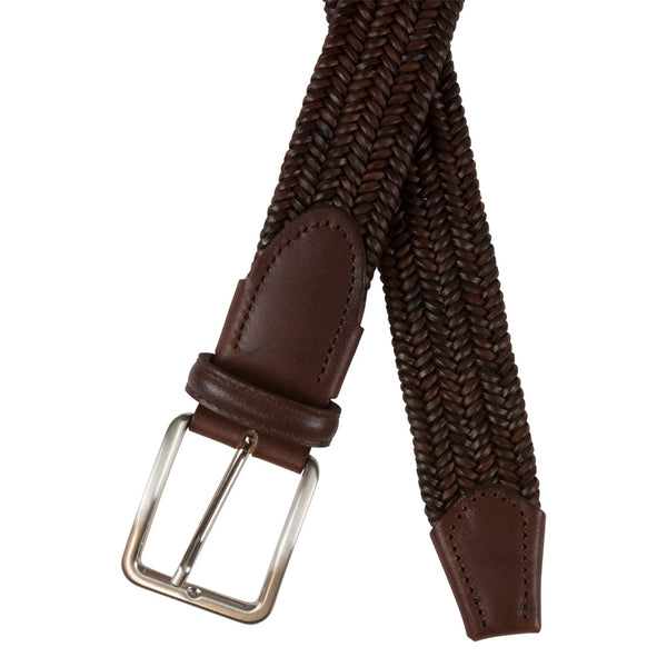 BELT I ELASTIC LEATHER I BROWN