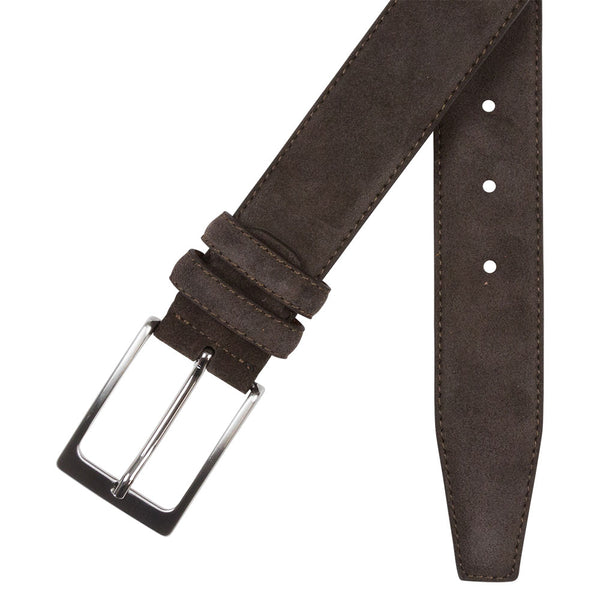 BELT I SUEDE I BROWN