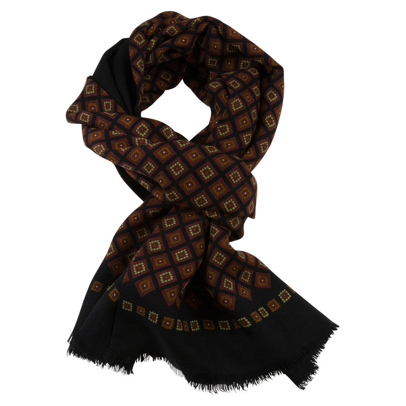 SCARF I MEDALLION I BLACK
