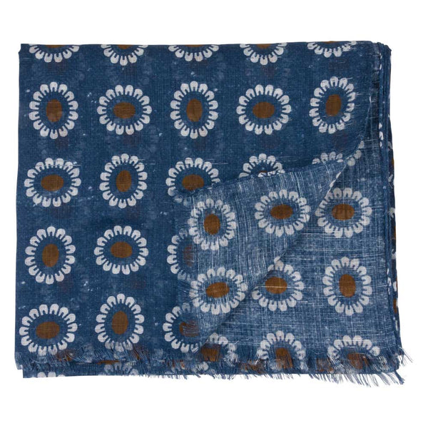 SCARF I COTTON LINEN I BLUE