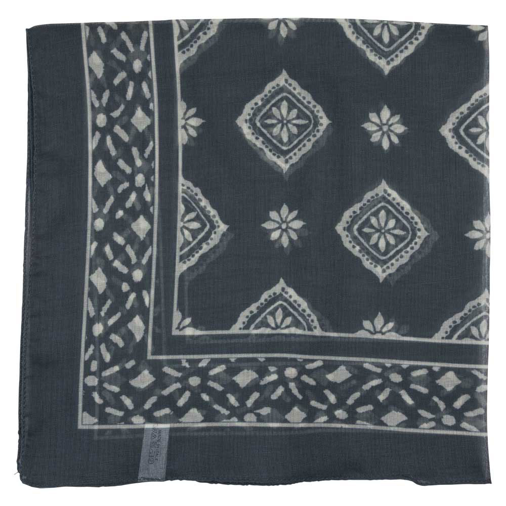 grey with pattern classic bandana male flat