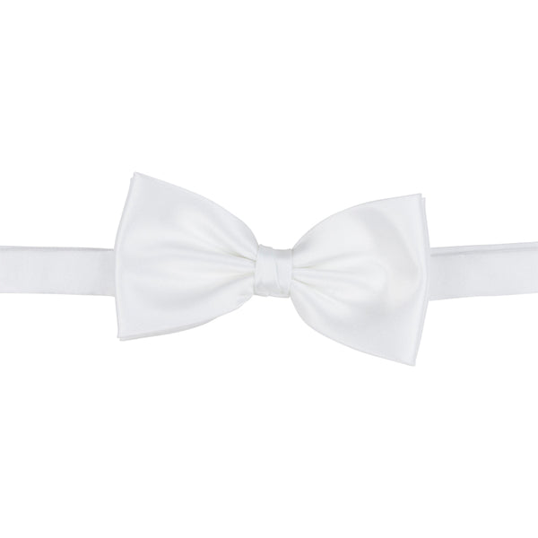 classic white bow tie silk front