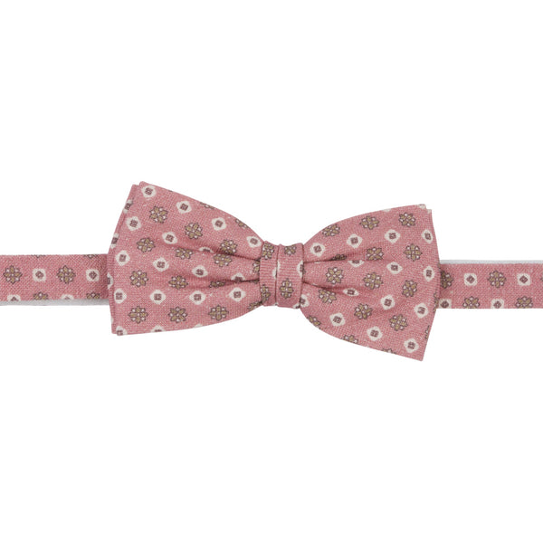 pink vintage bow tie silk front
