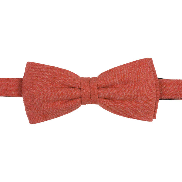red shantung silk bow tie front