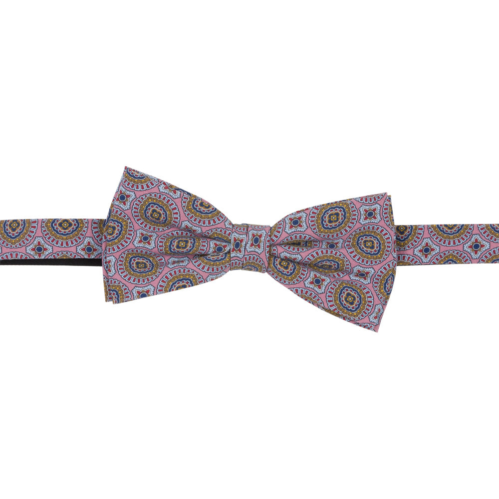 pink silk tropea bow tie luxury front
