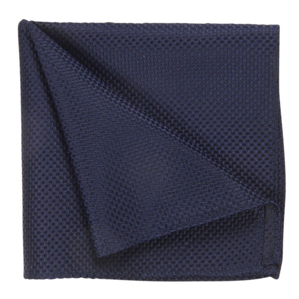 POCKET SQUARE I SILK I DARK BLUE