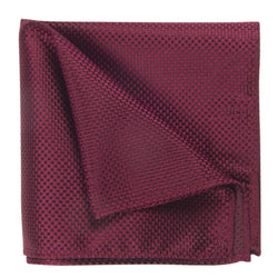 POCKET SQUARE I SILK I BURGUNDY