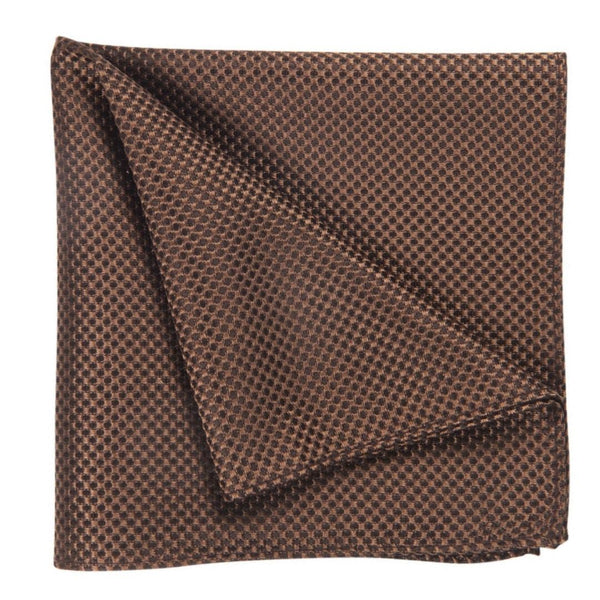 POCKET SQUARE I SILK I BROWN