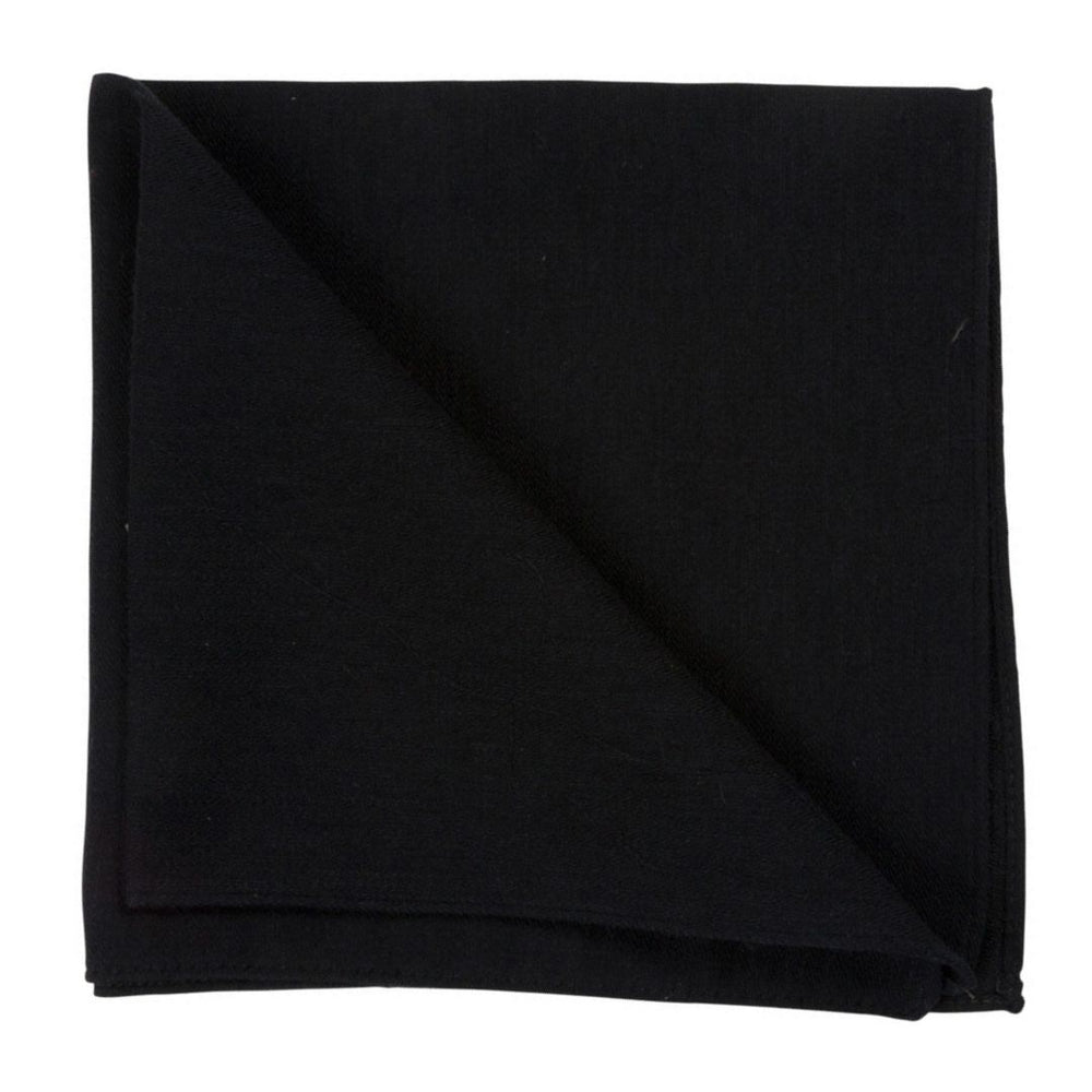 black wool silk pocket square