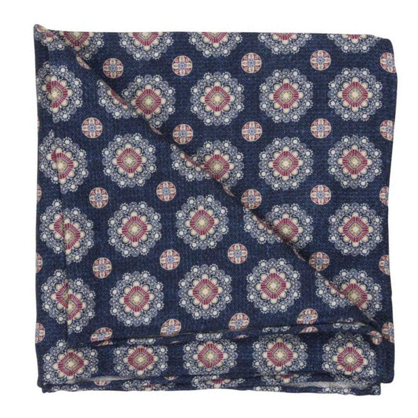 POCKET SQUARE I SILK DIAMOND I BLUE - Portia 1924