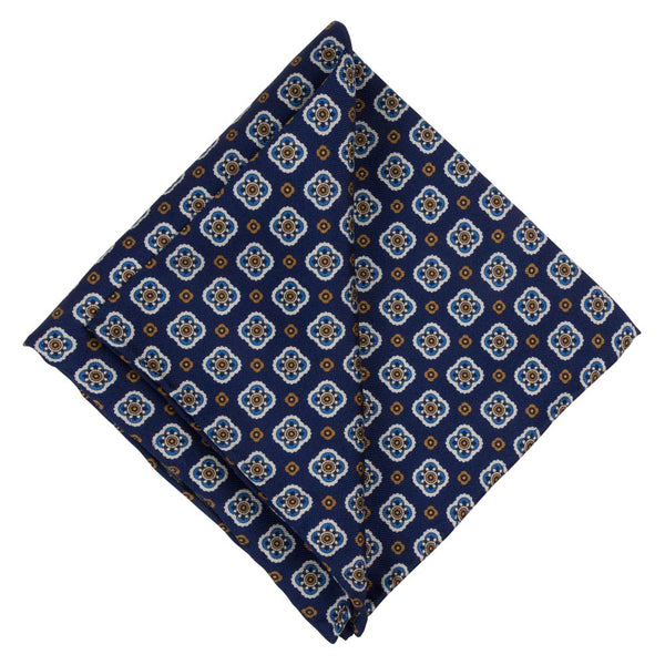 POCKET SQUARE I SILK PANAMA I BLUE - Portia 1924
