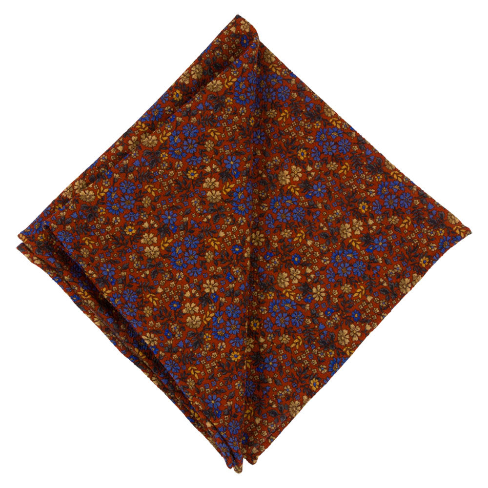 POCKET SQUARE I WOOL CREPE MARACAINE I ORANGE - Portia 1924