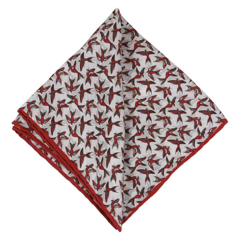 Pocket Square I Silk I Red