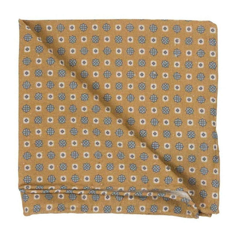 Pocket Square I Silk Vintage I Yellow