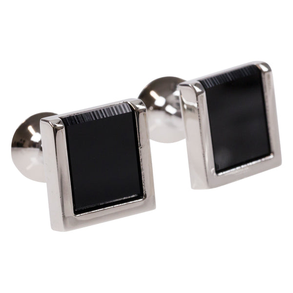 CUFFLINKS I BLACK SQUARE - Portia 1924