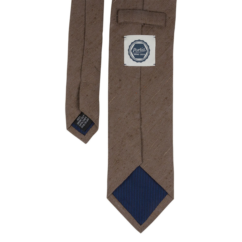 brown shantung silk tie back