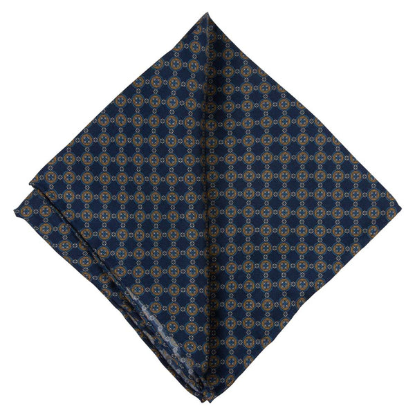BROWN POCKET SQUARE SILK