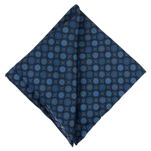 BLUE POCKET SQUARE SILK